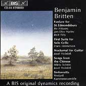 Britten: Chamber Music / Helmerson, Holecek, etc