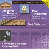 Concertgebouw Series - Brahms, Hindemith / Gilels, Jochum