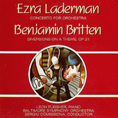 Laderman: Concerto for Orchestra;  Britten: Diversions