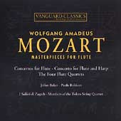 Mozart: Masterpieces for Flute / Baker, Robison, et al