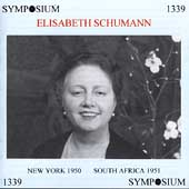 Elisabeth Schumann - New York 1950 - South Africa 1951