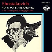 Shostakovich: String Quartets no 4 & 9 / Dartington Quartet