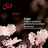 Elgar: Enigma Variations, etc / Davis, London SO