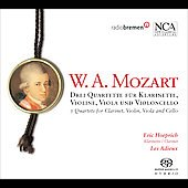Mozart: 3 Quartets For Clarinet, Violi