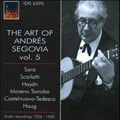 The Art Of Andres Segovia, Vol. 5