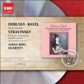 Debussy, Ravel: String Quartets; Stravinsky: 3 Pieces; Concertino; Double Canon / Alban Berg Quartet
