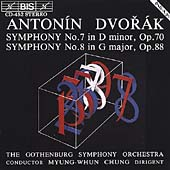 Dvorák: Symphonies nos 7 & 8 / Chung, Gothenburg SO
