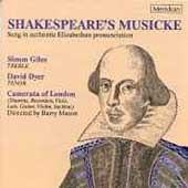 Shakespeare's Musicke / Barry Mason, Camerata of London