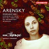 Arensky: Symphony no 2, etc / Sinaisky, BBC Philharmonic