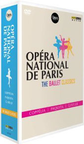 The Ballet Classics - Works by Delibes, Delvedez, Minkus, Adam / Opéra National de Paris, Ganio, Letestu, Martinez, Pujol, Le Riche [3 DVD]