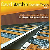 David Starobin - Favorite Tracks Vol 1 - 19th Century Guitar Masterpieces