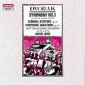 Dvorák: Symphony no 3, etc / Järvi, Scottish NO