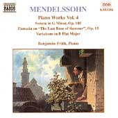 Mendelssohn: Piano Works Vol 4 / Benjamin Frith