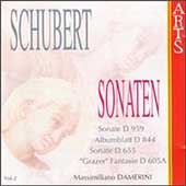Schubert: Sonaten Vol 2 / Massimiliano Damerini