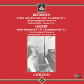 Mozart;  Beethoven: Piano Concerto no 5 / Szell, Curzon
