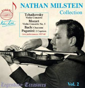 Legendary Treasures - Nathan Milstein Collection Vol 1: Concertos of Tchaikovsky & Mozart (no 5);Bach: Chaconne; Paganini: Caprices
