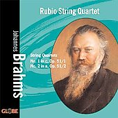 Brahms: String Quartets no 1 & 2 / Rubio String Quartet