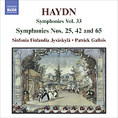 Haydn: Symphonies Vol 33 / Gallois, Sinfonia Finlandia