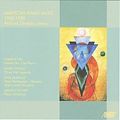 American Piano Music - Ives, Cowell, Rudhyar, Copland / Richard Zimdars