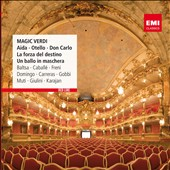 Magic Verdi - highlights of Aida, Otello, Don Carlo, La Forza & Un ballo / Caball&eacute;, Freni, Domingo, Carreras, Gobbi, Muti,Giulini, Karajan