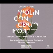 Joseph Haydn: Violin Concerto No. 1 in C major; Sinfonia Concertante in B flat major / Los Angeles PO, Zukerman