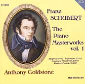 Schubert: The Piano Masterworks Vol 1 / Anthony Goldstone