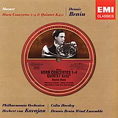 Historical - Mozart: Horn Concertos, etc / Brain, Karajan