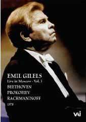 Emil Gilels plays Beethoven, Prokofiev, J.S. Bach / Vol. 3 [DVD]