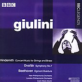 Hindemith, Dvor&aacute;k, Beethoven / Giulini, London PO
