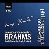 Brahms: Symphony no 2 & 4 / Christoph von Dohn&aacute;nyi, Philharmonia Orchestra