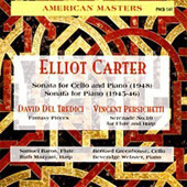 Carter: Sonata for Cello and Piano; Sonata for Piano