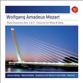 Mozart: Flute Concertos Nos. 1 & 2; Concerto for Flute & Harp / James Galway, flute; Marisa Robles, harp; Academy of St. Martin in the Fields; Marriner
