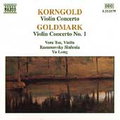 Korngold, Goldmark: Violin Concertos / Vera Tsu, Yu Long