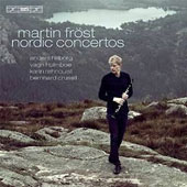 Nordic Concertos for clarinet by Hillborg, Holmboe, Rehnqvist, Crusell / Martin Frost, clarinet