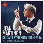 Jean Martinon conducts the Chicago Symphony Orchestra: The Complete Recordings - works by Bartok, Hindemith, Nielsen, Varese, Ravel, Martin, Roussel, Lalo, Mendelssohn et al.   [10 CDs]
