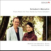 Schubert: Piano Music for Four Hands - Lebensstürme; Fantasien F minor; Death and the Maiden; 8 Variations on an Original Theme / Mookie Lee-Menuhin, Jeremy Menuhin, piano