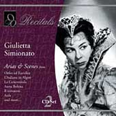 Recitals - Giulietta Simionato - Arias & Scenes