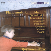 Piano music for children by Shostakovich, et al / Clarke