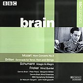 Mozart, Britten, Schumann, Milhaud, et al / Brain