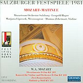 Mozart: Divertimento K 205, etc / Hager, et al