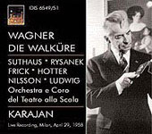 Wagner: Die Walkure / Karajan, Suthaus, Rysanek, Frick, Hotter, Nilsson, Ludwig, et al