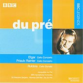 Elgar, Rainier: Cello Concertos;  Rubbra: Cello Sonata / Jacqueline & Iris du Pré, Sir Malcolm Sargent, Norman Del Mar, BBC SO