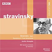 Stravinsky: Symphony in 3 Movements, Agon, Apollon Musagete, etc / Igor Stravinsky, BBC SO