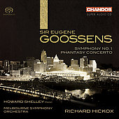 Goosens: Symphony no 1, Phantasy Concerto / Hickox, et al