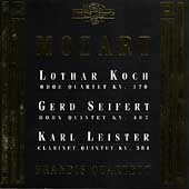 Mozart: Oboe Quartet, etc / Koch, Seifert, Leister, Brandis