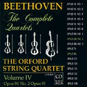 Beethoven: The Complete Quartets Vol IV / Orford Quartet