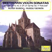 Beethoven: Violin Sonatas / Adolf Busch, Rudolf Serkin