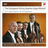 Mozart: The 6 Haydn-Quartets, nos 14-19; The 6 String Quintets / Budapest String Quartet; Walter Trampler, Milton Katims [4 CDs]