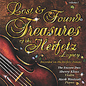 Lost and Found Treasures of Heifetz Legacy / Kloss, Westcott