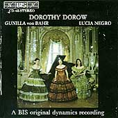 Music for Soprano, Flute & Piano / Dorow, von Bahr, Negro